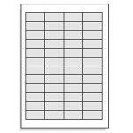 Étiquettes 45,7 x 21,2 mm pour a résistant aux intempéries-transparent-lot de 4–4 x 12/480 folienetiketten-page de la marque Printation image 1 produit