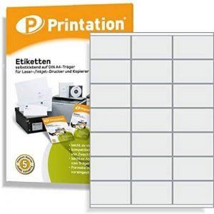 Étiquettes 70x 41mm–2100pièces adhésives blanches Blanc–100A4feuille à 3x 770x 41Labels imprimable–34814473 de la marque Printation image 0 produit