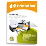 Étiquettes 70x 41mm–2100pièces adhésives blanches Blanc–100A4feuille à 3x 770x 41Labels imprimable–34814473 de la marque Printation image 3 produit