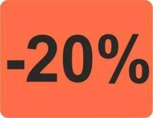Étiquettes autocollantes « 20% » – 1 000 étiquettes publicitaires 39 x 30 mm – Rouge vif de la marque HKR-Welt-BB image 0 produit