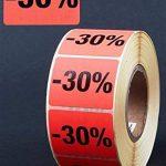 Étiquettes autocollantes 30% - 1000 étiquettes publicitaires - Rouge vif - 39 x 30 mm de la marque HKR-Welt-BB image 1 produit