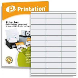 Étiquettes autocollantes pour marquage 70 x 25,4 mm Blanc 3300 70 x 25,4 mm sur 100 feuilles DIN A4 3x11-3421 4455 de la marque Printation image 0 produit