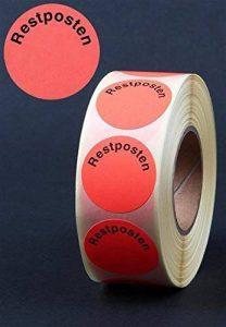 Étiquettes autocollantes « Restposten » – 3000 autocollants publicitaires Ø 30 mm – Rouge vif de la marque HKR-Welt-BB image 0 produit