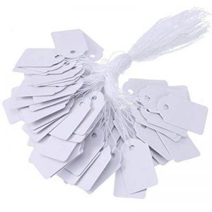 Étiquettes de Marquage Cadeau en Papier Étiquettes de Prix des Bijoux Strung Étiquette de Vêtements, 500 Pièces, 18 par 29 mm de la marque BBTO image 0 produit