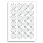 Étiquettes rondes diamètre 40 mm 2400 pastilles autocollantes blanc format a4 40 mm de la marque Printation image 1 produit