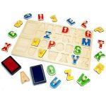 Tooky Toy - TKB832 - jouet de bois - puzzle avec un tampon encreur - toutes les lettres de A à Z - plaisir garanti - 29 x 21 x 2,5 cm de la marque Tooky Toy image 2 produit