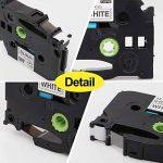toprinting 2 x Ruban pour Etiqueteuse Compatible 9mm x 8m Replace Brother P-Touch Tze-221 Tz-221 Noir sur Blanc de la marque Toprinting image 3 produit