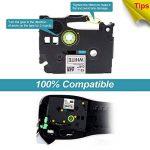 toprinting 2 x Ruban pour Etiqueteuse Compatible 9mm x 8m Replace Brother P-Touch Tze-221 Tz-221 Noir sur Blanc de la marque Toprinting image 4 produit