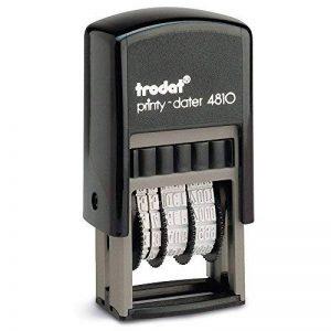 Trodat 4810 Printy Tampon dateur avec nom des mois Hauteur des caractères: 3,8mm Noir [Français non garanti] de la marque Trodat image 0 produit