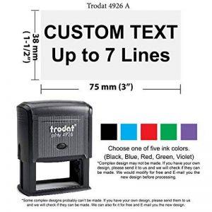 Trodat 4926–Grande personnalisé Tampon en caoutchouc par Trodat de la marque Trodat image 0 produit