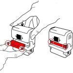 TRODAT Lot de 2 Cassettes encreur de rechange pour tampon 6/4913B Bleu de la marque Trodat image 2 produit