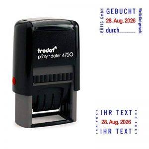 Trodat Printy Dater 4750Tampon dateur avec 2Coussin coloré bleu/rouge + personnalisable I H R T E X T 2 de la marque Trodat image 0 produit