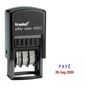 Trodat Printy Dater 4850Date Tampon avec deux oreillers de couleur + votre texte payé de la marque Trodat image 0 produit