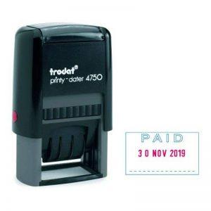 Trodat Printy Tampon dateur Paid Texte bleu/Date rouge (Import Royaume Uni) de la marque Trodat image 0 produit