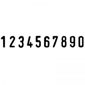 Trodat PROFESSIONAL 55510–10chiffres auto-encreur Numberer–5numéros de mm (0,5cm) de la marque XpressStamp image 0 produit
