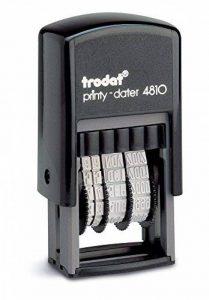 Trodat Tampon encreur Timbre mini dateur Printy 3,8 mm Noir de la marque Trodat image 0 produit