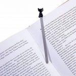 TROIKA BOOKMARK CAT – BKM22/BK – signet – Chat, chaton, pour passionnés de lecture et rats de bibliothèque – fonte métallique– brillant – noire, argent – TROIKA-original de la marque Troika image 1 produit