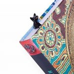 TROIKA BOOKMARK CAT – BKM22/BK – signet – Chat, chaton, pour passionnés de lecture et rats de bibliothèque – fonte métallique– brillant – noire, argent – TROIKA-original de la marque Troika image 2 produit