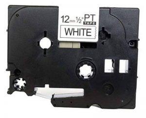 TZe231 (12mm x 8m) Ruban Cassette noir sur blanc - Etiquettes Ruban laminé Rouleau pour Brother P-Touch PT-1000 PT-1000P PT-1000BTS PT-1005 PT-1010 PT-1090 PT-2030VP PT-2430PC PT-3600 PT-9600 PT-D200 PT-D200VP PT-D200BW PT-D210 PT-D210VP PT-D400 PT-D400VP image 0 produit