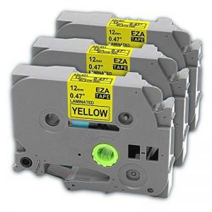 TZE631 Etiquettes, 3 Pack Ruban Cassette Laminé TZe-631 TZ631 Compatible pour Étiqueteuses Brother Noir sur Jaune 12 mm x 8m Convient Pour P-Touch 1000 1010 1230 1250 1290 pte100vp PTH100R PT-H100LB PT-H105 pt-h75 de la marque MarkField image 0 produit