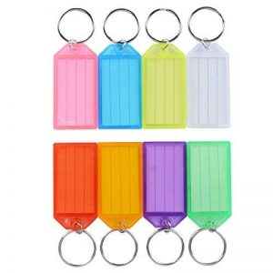 Uniclife Lot de 40étiquettes en plastique robuste avec anneau fendu Porte-étiquette, couleurs assorties de la marque Uniclife image 0 produit