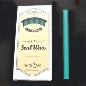 Uniqooo Arts & Crafts 12Pistolet à colle Vert Cire Bâtons de cire d'étanchéité pour tampon Idéal pour cartes enveloppes, Invitation de mariage, vin de l'emballage, idée de cadeau de la marque UNIQOOO image 0 produit