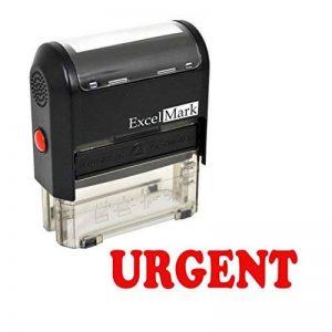 Urgent auto-encreur Tampon en caoutchouc–ENCRE Rouge de la marque ExcelMark image 0 produit