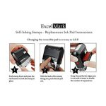 Urgent auto-encreur Tampon en caoutchouc–ENCRE Rouge de la marque ExcelMark image 2 produit