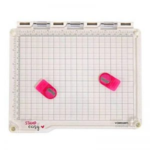 Vaessen Creative Stampe Easy Platform, Plastique, Blanc/Transparent, 23,5 x 20,5 x 1,8 cm de la marque Vaessen creative image 0 produit