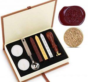 Wax Cire épilation Sceau à Kit absofine Vintage Adhesive avec ensemble de clé Cuillère Bougies Boîte Cadeau de la marque Absofine image 0 produit