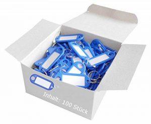 Wedo 262801800Porte-clés plastique (avec anneau, interchangeables Étiquettes) Lot de 100 bleu de la marque Wedo image 0 produit