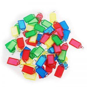 WINOMO 60pcs porte-clés en plastique bagages ID Tags étiquettes avec porte-clés (couleur aléatoire) de la marque WINOMO image 0 produit