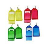WINOMO 60pcs porte-clés en plastique bagages ID Tags étiquettes avec porte-clés (couleur aléatoire) de la marque WINOMO image 1 produit