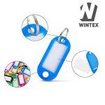 WINTEX 100 porte-clés avec étiquette changeable en couleurs mixtes | 2 ans de garantie de satisfaction | porte - clés bagages, porte-clés voyage, etiqettes à bagages de la marque WINTEX image 1 produit
