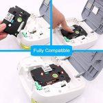 Wonfoucs 5x Ruban pour Étiqueteuse TZe-131 TZe-231 TZe-431 TZe-531 TZe-631, 12mm x 8m - Compatible avec Brother P-Touch PT-H105 PT-H100 PT-1005 PT-1000 PT-1010 PT-1080 PT-H101c, etc. de la marque Wonfoucs image 1 produit