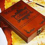 Xichen Coffret cadeau en bois, look vintage, avec tampon, cire à cacheter et lettres de A à Z M de la marque CHENXI image 1 produit