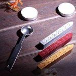 Xichen Coffret cadeau en bois, look vintage, avec tampon, cire à cacheter et lettres de A à Z M de la marque CHENXI image 3 produit