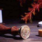 Xichen Coffret cadeau en bois, look vintage, avec tampon, cire à cacheter et lettres de A à Z M de la marque CHENXI image 4 produit