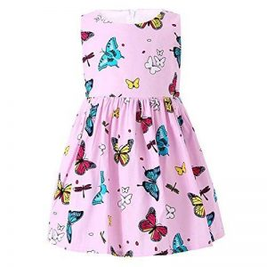 ZHUANNIAN Robe Fille Papillon Imprimer sans Manche Partie Enfant Été Robe de la marque ZHUANNIAN image 0 produit